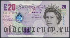 Великобритания, 20 фунтов 1999 года
