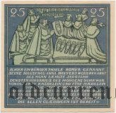 Хамельн (Hameln), 25 пфеннингов 1921 года
