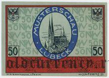 Любек (Lübeck), 50 пфеннингов 1921 года. Вар. 2