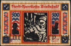 Билефельд (Bielefeld), 500 марок 1922 года. На шелке