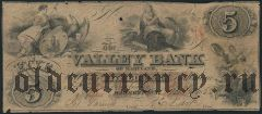 США, Valley Bank, Maryland, 5 долларов 1855 года