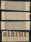 Мозырь, надпечатка на купонах. 4 шт.
