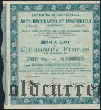 Франция, Arts Decoratifs et Industriels, 50 франков 1925 года