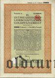 Калининград (Königsberg) Восточная Пруссия, 6% Сельскохозяйственная Ипотека, 5000 goldmark 1928
