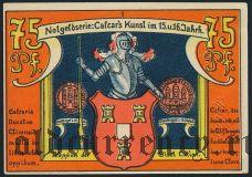 Калькар (Calcar), 75 пфеннингов 1922 года. Вар. 1