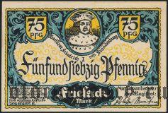Фризак (Friesack), 75 пфеннингов 1921 года