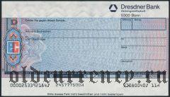 Чек, Dresdner Bank