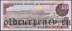 Гондурас, 10 лемпирас 1989 года