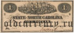 США, State of North Carolina, 1 доллар 1863 года