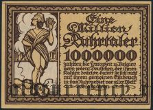 Рурская область (Ruhrgebiet), 1.000.000 Ruhrtaler. Пропаганда. Вар.1