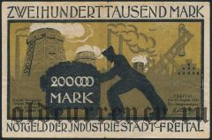 Фрайталь (Freital), 200.000 марок 1923 года
