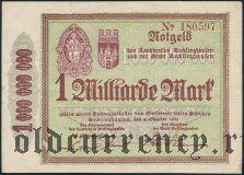 Реклингхаузен (Recklinghausen), 1.000.000.000 марок 1923 года. Вар. 1