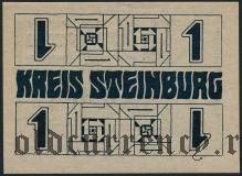 Штайнбург (Steinburg), 1 марка 1918 года
