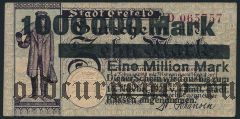 Крефельд (Crefeld), 1.000.000 марок 1923 года. Вар. 1