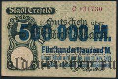 Крефельд (Crefeld), 500.000 марок 1923 года. Вар. 1