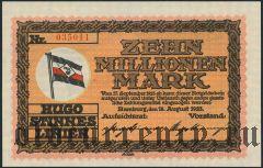 Гамбург (Hamburg), 10.000.000 марок 1923 года. Вар. 2