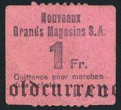 Франция, Grands Magasins, 1 франк