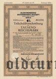Elektrowerke Aktiengesellschaft, Berlin, 1000 reichsmark 1943.