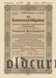 Deutschen Wohnstatten-Hypothekenbank, Berlin, 1000 рейхсмарок 1943