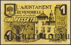Испания, Вендрель (d'El Vendrell), 1 песета 1937 года