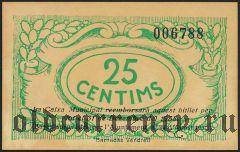 Испания, Вендрель (d'El Vendrell), 25 сантимов 1937 года