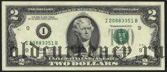 США, 2 доллара 2003 года.