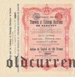Саратовский трамвай и электричество, 100 франков