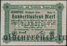 Ахен (Aachen), 100.000 марок 1923 года
