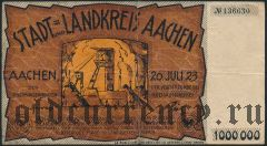 Ахен (Aachen), 1.000.000 марок 1923 года