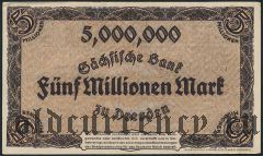Дрезден (Dresden), 5.000.000 марок 12.08.1923 года