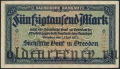 Дрезден (Dresden), 50.000 марок 1923 года