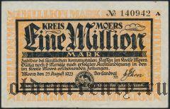 Моерс (Moers), 1.000.000 марок 1923 года