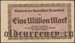 Мюнхен (München), 1.000.000 марок 1923 года