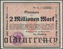 Бергедорф (Bergedorf), 2.000.000 марок 1923 года