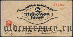 Альтона (Altona), 2.000.000 марок 1923 года. Вар. 2