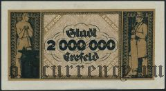 Крефельд (Crefeld), 2.000.000 марок 1923 года. Вар. 2