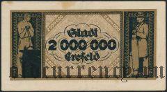 Крефельд (Crefeld), 2.000.000 марок 1923 года. Вар. 3