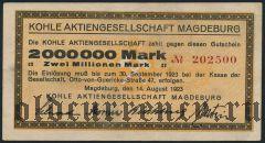 Магдебург (Magdeburg), 2.000.000 марок 1923 года