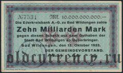 Бад-Вильдунген (Bad Wildungen), 10.000.000.000 марок 1923 года