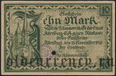 Альтенбург (Altenburg), 10 марок 1918 года
