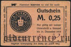 Штасфурт (Stassfurt), A. Conrad, 25 пфеннингов 1919 года