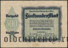Рюгенвальде (Rügenwalde), 500 марок 1922 года