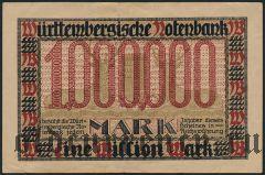 Штутгарт (Stuttgart), 1.000.000 марок 1923 года