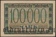 Штутгарт (Stuttgart), 100.000 марок 1923 года