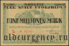 Пфорцхайм (Pforzheim), 5.000.000 марок 1923 года
