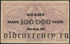 Вальд (Wald), 100.000 марок 1923 года