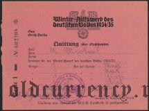 Германия, winterhilfswerk (зимняя помощь) 1934 года