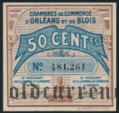 Франция, d'Orleans et de Blois, 50 сантимов 1920 года