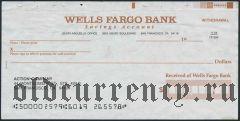 Чек, Wells Fargo Bank