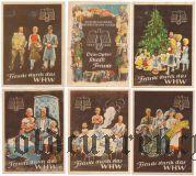 Германия, winterhilfswerk (зимняя помощь) 1937-38 гг., 6 шт.